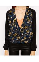 Dress Gallery Printed Blazer with Contrast Sleeves - Lyst