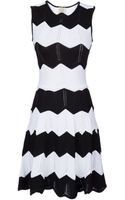 Torn By Ronny Kobo Sleeveless Zig Zag Knit Dress - Lyst