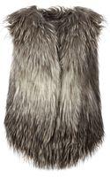 Diesel Faux Fur Large Vest - Lyst