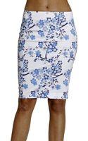 Armani Jeans Skirt Cotton Flowers Print - Lyst