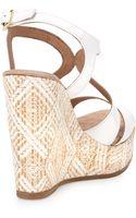 Andre Assous Johannam1 Patent Wovenwedge Sandal White - Lyst
