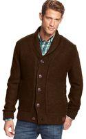 Weatherproof Vintage Faux-fur-lined Sweater Jacket - Lyst