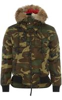 DSquared2 Camo Print Down Bomber Jacket - Lyst