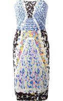 Peter Pilotto Strapless Dress - Lyst