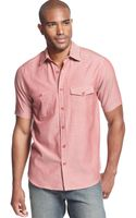 Sean John Shortsleeve Textured Slub Shirt - Lyst