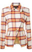 Vivienne Westwood Anglomania Long Sleeved Tartan Blazer - Lyst