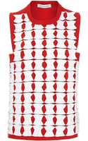 J.W. Anderson Red Butterfly Pleated Top - Lyst
