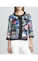 Michael Simon Sequined Print Zip Jacket - Lyst