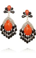 Kenneth Jay Lane Goldplated Crystal Earrings - Lyst
