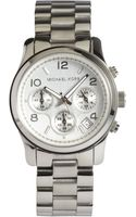 Michael Kors Silver Stainless Steel Chronograph Watch - Lyst
