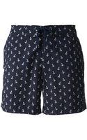 Woolrich Anchor Print Swim Shorts - Lyst
