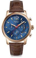 Breil Rosegold Plated Chronograph Watch - Lyst