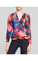 Amanda Uprichard Blouse  Crossover Silk - Lyst