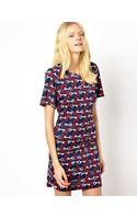 See By Chloé Mini Dress in Key Print - Lyst