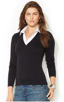 Lauren by Ralph Lauren Layeredlook Sweater - Lyst