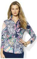 Lauren by Ralph Lauren Patchwork Paisley Cotton Sateen Shirt - Lyst