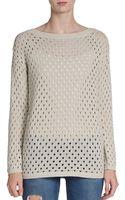 BCBGeneration Pointelle Knit Pullover - Lyst