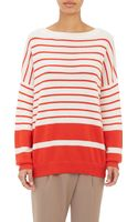 Vince Variegated-Stripe Cashmere Sweater - Lyst