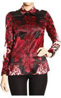 Versace Shirt Silk Barocco Print - Lyst