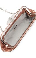 Judith Leiber Whitman Metallic Python Clutch Bag Copper - Lyst