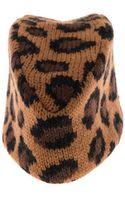 Tak.ori Piccolo Leopard Knit Fez Hat - Lyst