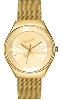 Lacoste Womens Valencia Gold Ion-plated Stainless Steel Mesh Bracelet 38mm - Lyst