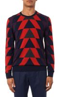 Paul Smith Staggered Intarsia-knit Sweater - Lyst