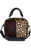 River Island Black Leather Mixed Animal Print Box Bag - Lyst