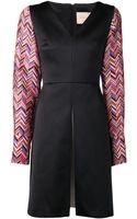Roksanda Ilincic Herringbone Sleeve Dress - Lyst