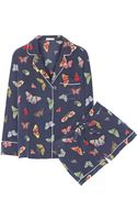 Equipment Lilian Printed Silk Crepe De Chine Pajama Set - Lyst