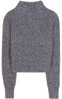 Acne Studios Loyal Cropped Wool Sweater - Lyst