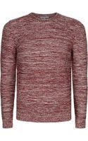 Carven Melange Knit Sweater - Lyst