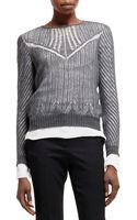 Alexander McQueen Spider Lace Knit Long Sleeve Top - Lyst