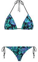 Zimmermann Floral Filigree Triangle Bikini - Lyst