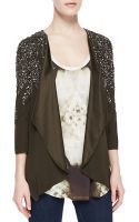 Haute Hippie Flame Embellished Drape Jacket - Lyst