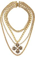 Vickisarge Speakeasy Goldplated Swarovski Crystal Necklace - Lyst