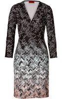 Missoni Patterned Knit Wrap Dress - Lyst