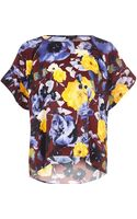 River Island Red Floral Print Top - Lyst