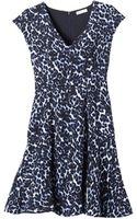 Rebecca Taylor Lynx Vneck Flare Dress - Lyst