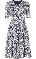 Max Mara Studio Rino 34 Sleeved Floral Printed Dress - Lyst