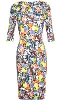 Erdem Wilhemina Floral Dress - Lyst