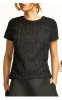 Harvey Faircloth Floral Mesh T Shirt Top Black - Lyst