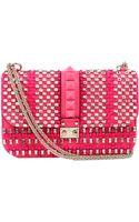 Valentino Lock Medium Flap Bag - Lyst