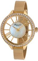 Kenneth Cole New York Womens Gold Ion-plated Stainless Steel Mesh Bracelet Watch 40mm - Lyst