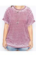 Asos Curve T-shirt in Burnout - Lyst