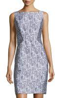 Lafayette 148 New York Contrast-panel Sleeveless Dress - Lyst