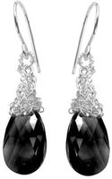 Yoola Black Crystal Silver Earrings Dangle Onyx Drops - Lyst