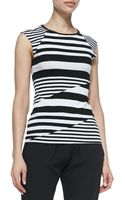 Bailey 44 Optical Illusion Striped Capsleeve Top - Lyst