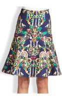 Mary Katrantzou Space Below The Knee Skirt - Lyst
