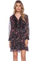 Anna Sui Rococco Pavillions Print Shirt Dress - Lyst
